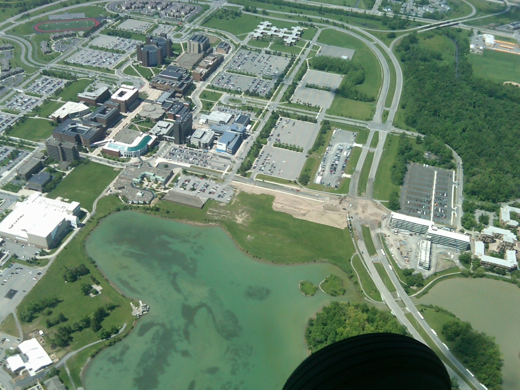 Aerial photo of The University at Buffalo North Campus