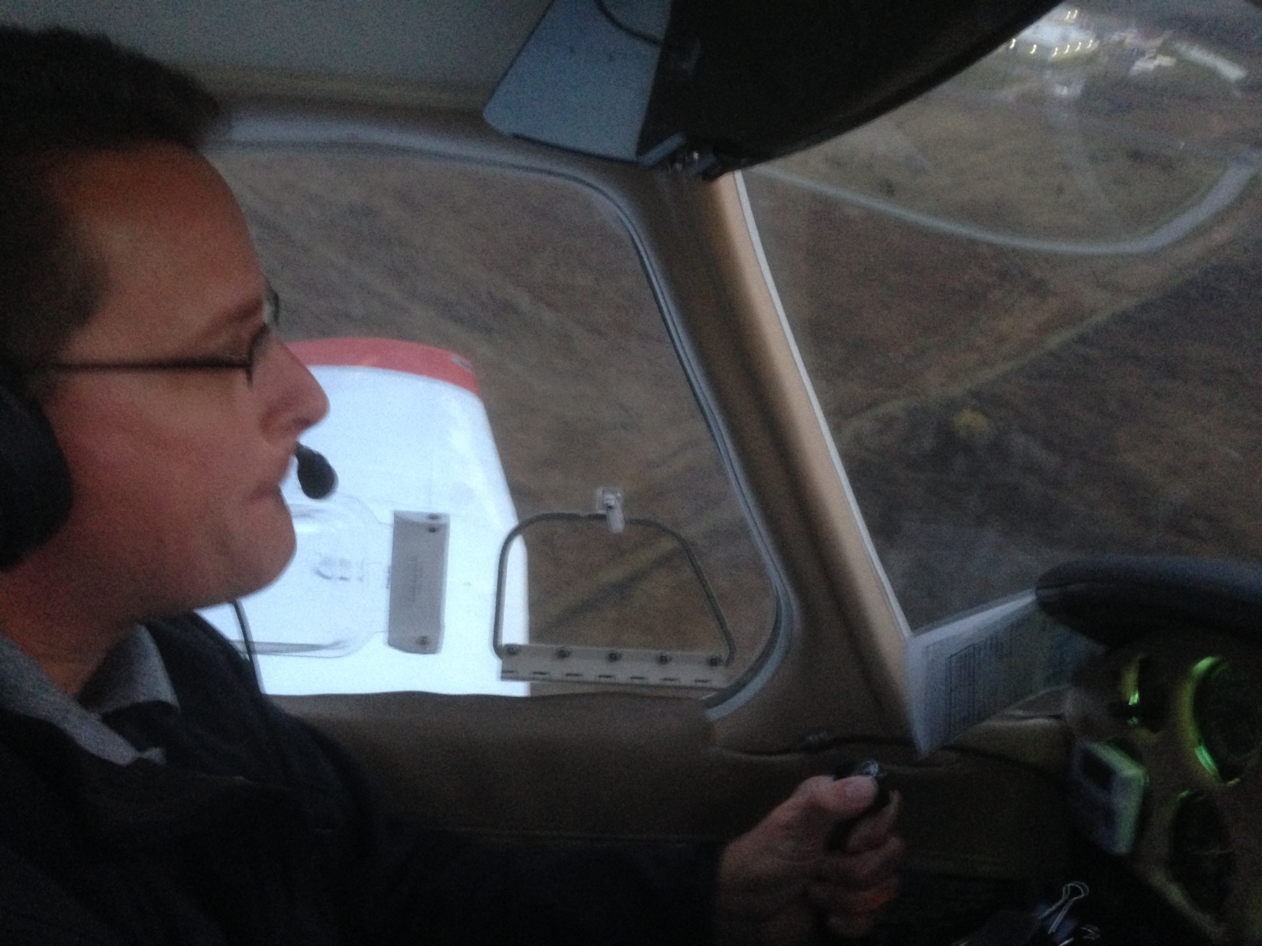 Dave Heinrich masterfully pilots his aircraft back to Buffalo-Lancaster, NY after his flight test
